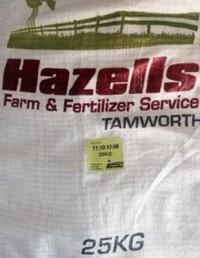 Hazels Lawn Fertiliser - Click to enlarge picture.